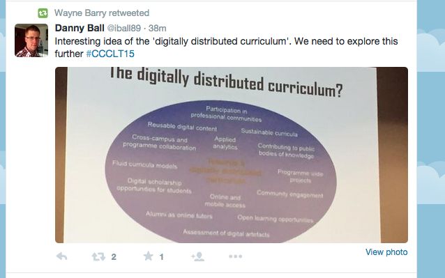 Distributed curriculum