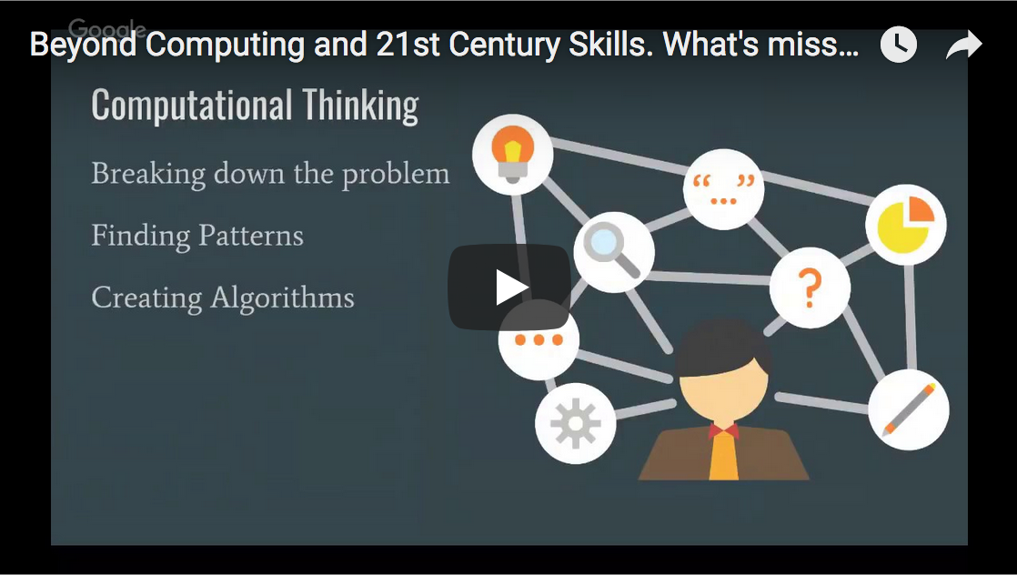 Beyond Computing and 21st Century Skills. What's missing?